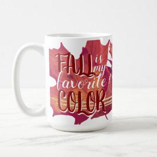 """A """"queda é caneca de café da minha cor favorita"""""""