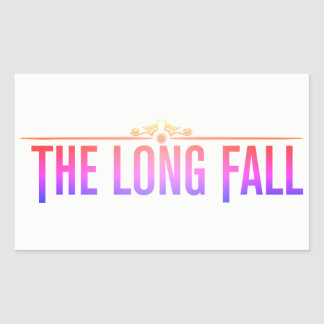 A queda longa (logotipo no rosa) adesivo retangular