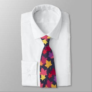 A queda outonal deixa o teste padrão gravata