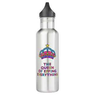 A rainha de Effing tudo garrafa de água legal