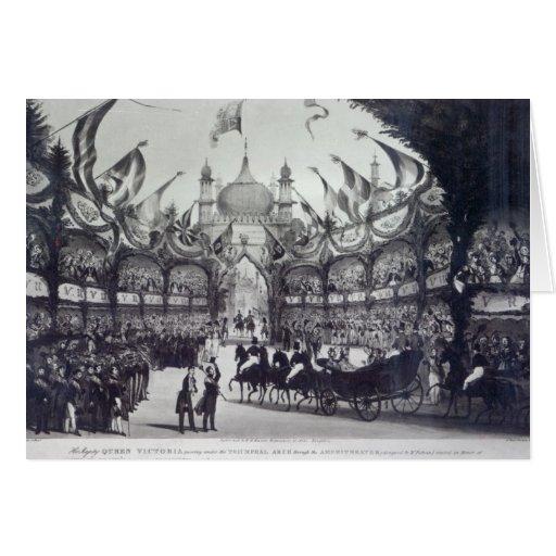 A rainha Victoria visita primeiramente a Brigghton Cartão