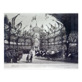 A rainha Victoria visita primeiramente a Brigghton Cartao Postal