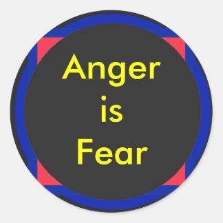 !   A raiva de UCreate é medo Adesivos Em Formato Redondos