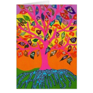 A raiz da árvore de vida - cartão do conhecimento