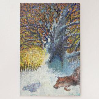 A raposa e o coelho - quebra-cabeça do animal