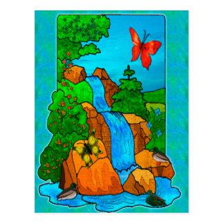 A rareza cai arte da fantasia da natureza cartões postais