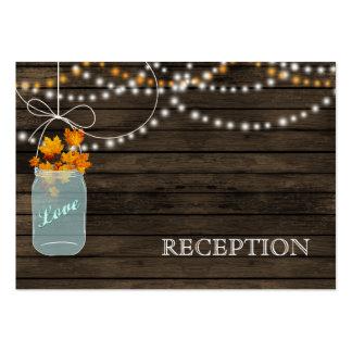 A recepção rústica dos frascos de pedreiro da cartão de visita grande