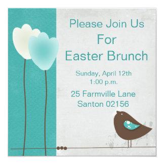 A refeição matinal da páscoa convida convite quadrado 13.35 x 13.35cm