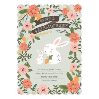 A refeição matinal da páscoa do amor do coelho convite 12.7 x 17.78cm