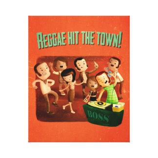 A reggae bateu a cidade! impressão em tela