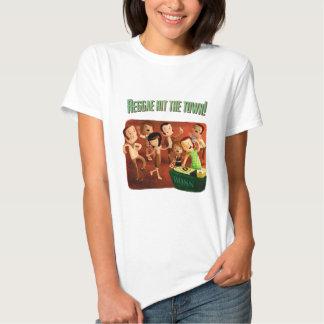 A reggae bateu a cidade! t-shirts
