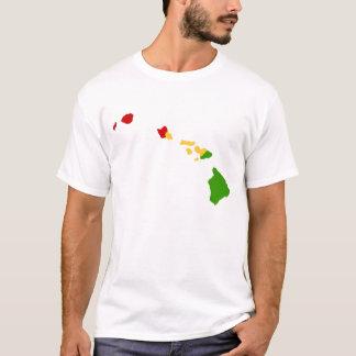 A reggae das ilhas havaianas colore a camisa