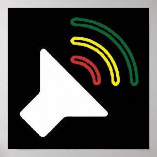 A reggae escuta poster
