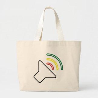 A reggae escuta saco sacola tote jumbo