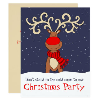 a rena da festa de Natal vem no convite