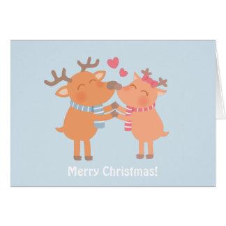 A rena Nuzzle no cartão do Natal do amor