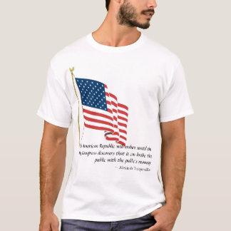 A república americana resistirá até…. camiseta