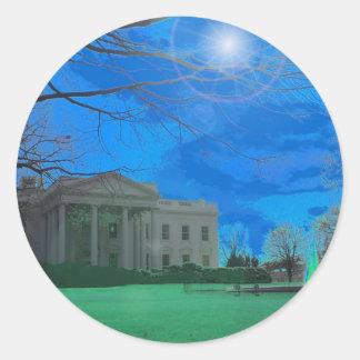 A residência de Obama Adesivos Em Formato Redondos