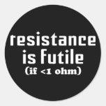 A resistência é etiqueta inútil adesivos redondos