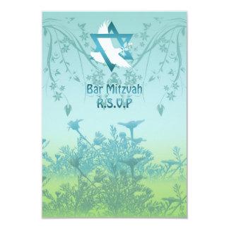 A resposta de Mitzvah do bar personalizada convida Convite 8.89 X 12.7cm