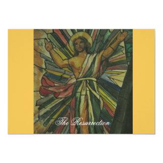 A ressurreição convite 12.7 x 17.78cm