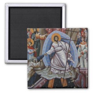 a ressurreição de Jesus Ímã Quadrado