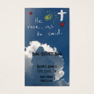 A ressurreição que da páscoa é Jesus aumentado Cartão De Visitas