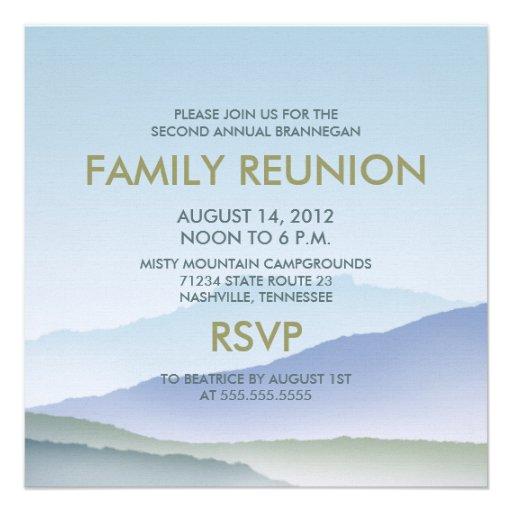 A reunião de família personalizada da montanha ene convites personalizado