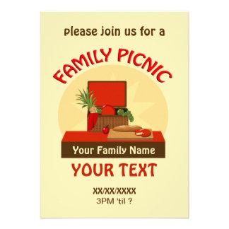 A reunião do piquenique da família da cesta do piq