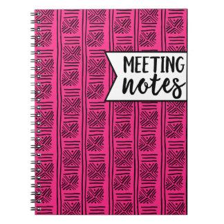 A reunião nota o caderno para professores