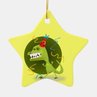 A rocha de Dino - festa de aniversário do Ornamento De Cerâmica Estrela