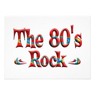 A rocha do anos 80 convites personalizado