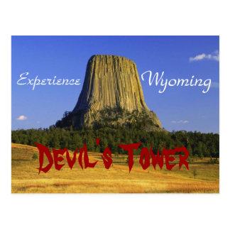 A rocha do diabo, cartão de Wyoming