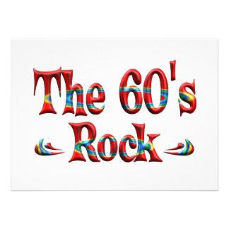 A rocha dos anos 60 convite personalizado