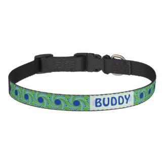 A roda azul pontilha (escolha a cor do fundo) correias para cães
