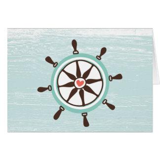 A roda do navio náutico todo o cartão da ocasião
