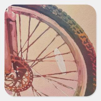 A roda na cor adesivo quadrado