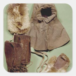 A roupa de Scott usada no Antarctic Adesivo Quadrado