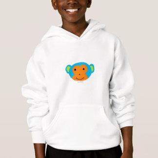 A roupa do miúdo principal do macaco