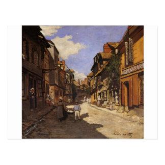 A rua Bavolle do La em Honfleur 2 por Claude Monet Cartão Postal