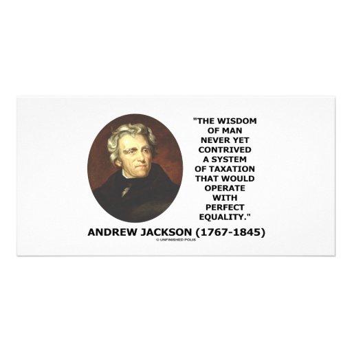 A sabedoria de Andrew Jackson maquina a igualdade  Cartoes Com Fotos