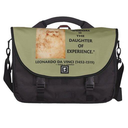 a sabedoria de da Vinci é a filha da experiência Pasta Para Notebook