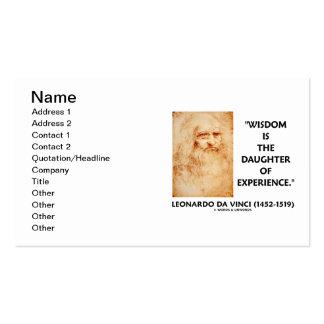 a sabedoria de da Vinci é a filha da experiência Cartoes De Visita