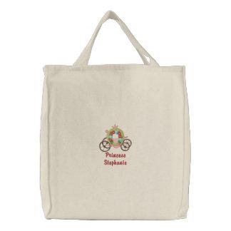 A sacola bordada da criança personalizada da carru bolsa de lona