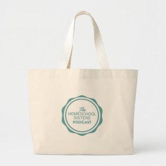 A sacola da biblioteca do Podcast das irmãs de Bolsa Tote Grande