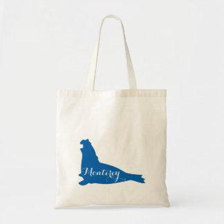 A sacola de livro ensaca o leão de mar de Monterey Sacola Tote Budget