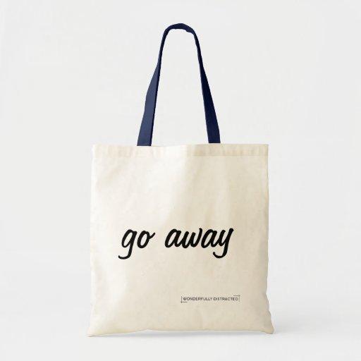 A sacola do slogan parte bolsas para compras