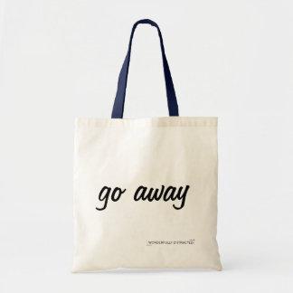 A sacola do slogan parte bolsa tote