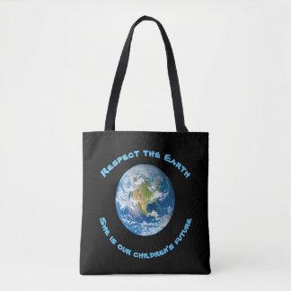 A sacola futura das crianças da terra do planeta bolsa tote