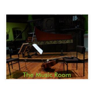 A sala da música cartão postal